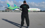 January 2007 - Joe Pries shooting on the ramp at Miami International Airport