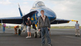 April 2008 - John Padgett with one of the U. S. Navy Blue Angels F/A-18's at Smyrna Airport, Tennessee