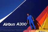 September 2005 - Dan Brownlee with an Airbus A300 that was scrapped