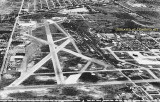 Late 1940's-early 1950's - looking east at Miami International Airport (left) and other properties to the right of the railroad