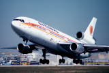 January 1979 - National Airlines DC10-30 N81NA taking off on runway 27L at Miami International Airport