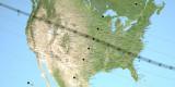 Total Solar Eclipse Map, Courtesy of NASA