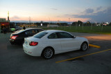 2:34 PM EDT, total eclipse, which lasted about 1 minute in Alcoa, TN. My white Bimmer turned out to be a useful prop. (1463)