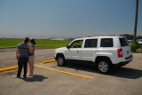 Young couple and their Jeep, 2:33 PM EDT, less than 1 minute before start of total eclipse (1459)