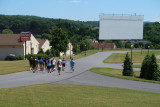 NB Center for American Automotive Heritage, Allentown, PA; right, drive-in movie screen (0991)