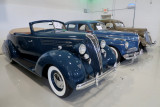 From left, 1936 Hudson Series 65 Custom 8 Convertible Coupe, 1941 Studebaker Commander, 1935 Nash Ambassador 8 (1168)