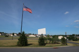 Drive-in movie screen in 27-acre campus of Nicola Bulgari's NB Center for American Automotive Heritage, Allentown, PA (1172)