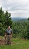 Dad on top of Flagg Mountain