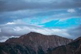 Montgomery peak under cloudy skies.