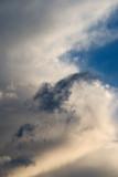 A tantalizing sliver of blue sky.
