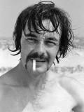 François sur la plage de Lespécier à Mimizan le 11 Juillet 1973