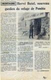 Hervé et Renée gérants du Refuge de Pombie. Le journal en parle en 1971.