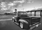 Ford 1950s PU Red DD HB Sunset BW.jpg