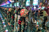 Creative use of  mirrors and psychedelic lightings