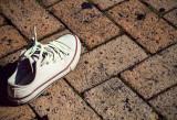 Shoe seen on Bourbon Street.