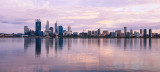 Perth and the Swan River at Sunrise, 2nd February 2012
