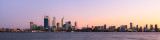 Perth and the Swan River at Sunrise, 1st May 2012
