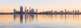 Perth and the Swan River at Sunrise, 16th May 2012