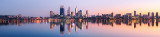 Perth and the Swan River at Sunrise, 21st May 2012