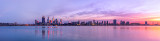 Perth and the Swan River at Sunrise, 26th May 2012