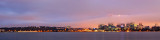 Perth and the Swan River at Sunrise, 16th June 2012