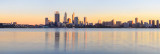 Perth and the Swan River at Sunrise, 21st July 2012