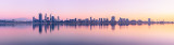 Perth and the Swan River at Sunrise, 27th August 2012