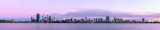 Perth and the Swan River at Sunrise, 28th September 2012