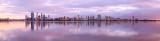 Perth and the Swan River at Sunrise, 6th November 2012