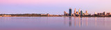 Perth and the Swan River at Sunrise, 1st April 2013