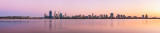 Perth and the Swan River at Sunrise, 6th April 2013