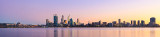 Perth and the Swan River at Sunrise, 24th May 2013