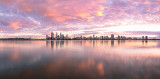 Perth and the Swan River at Sunrise, 26th May 2013