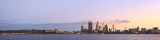 Perth and the Swan River at Sunrise, 13th June 2013