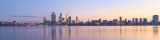 Perth and the Swan River at Sunrise, 19th June 2013