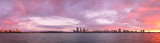 Perth and the Swan River at Sunrise, 23rd June 2013