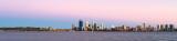 Perth and the Swan River at Sunrise, 28th November 2013