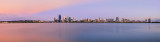 Perth and the Swan River at Sunrise, 1st January 2014