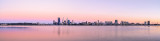 Perth and the Swan River at Sunrise, 4th January 2014