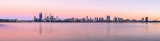 Perth and the Swan River at Sunrise, 5th January 2014