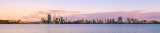 Perth and the Swan River at Sunrise, 16th January 2014