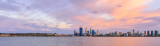Perth and the Swan River at Sunrise, 12th February 2014