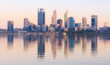 Perth and the Swan River at Sunrise, 3rd March 2017