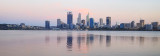 Perth and the Swan River at Sunrise, 8th March 2017