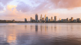 Perth and the Swan River at Sunrise, 15th March 2017