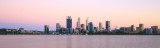 Perth and the Swan River at Sunrise, 19th March 2017