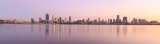 Perth and the Swan River at Sunrise, 27th March 2017