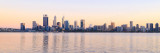 Perth and the Swan River at Sunrise, 12th April 2017