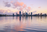 Perth and the Swan River at Sunrise, 5th May 2017