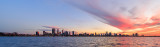 Perth and the Swan River at Sunrise, 30th May 2017